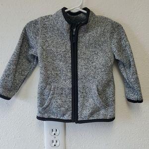 Heather gray zip front sweatshirt